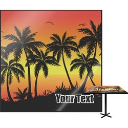 Tropical Sunset Square Table Top (Personalized)