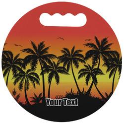 Tropical Sunset Stadium Cushion (Round) (Personalized)