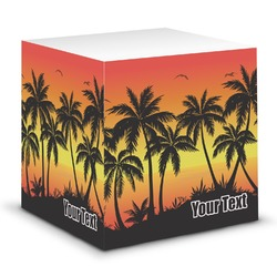 Tropical Sunset Sticky Note Cube (Personalized)