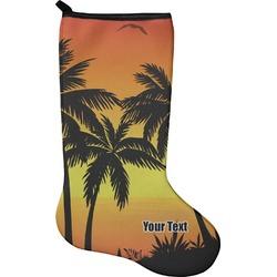 Tropical Sunset Holiday Stocking - Single-Sided - Neoprene (Personalized)