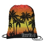 Tropical Sunset Drawstring Backpack (Personalized)