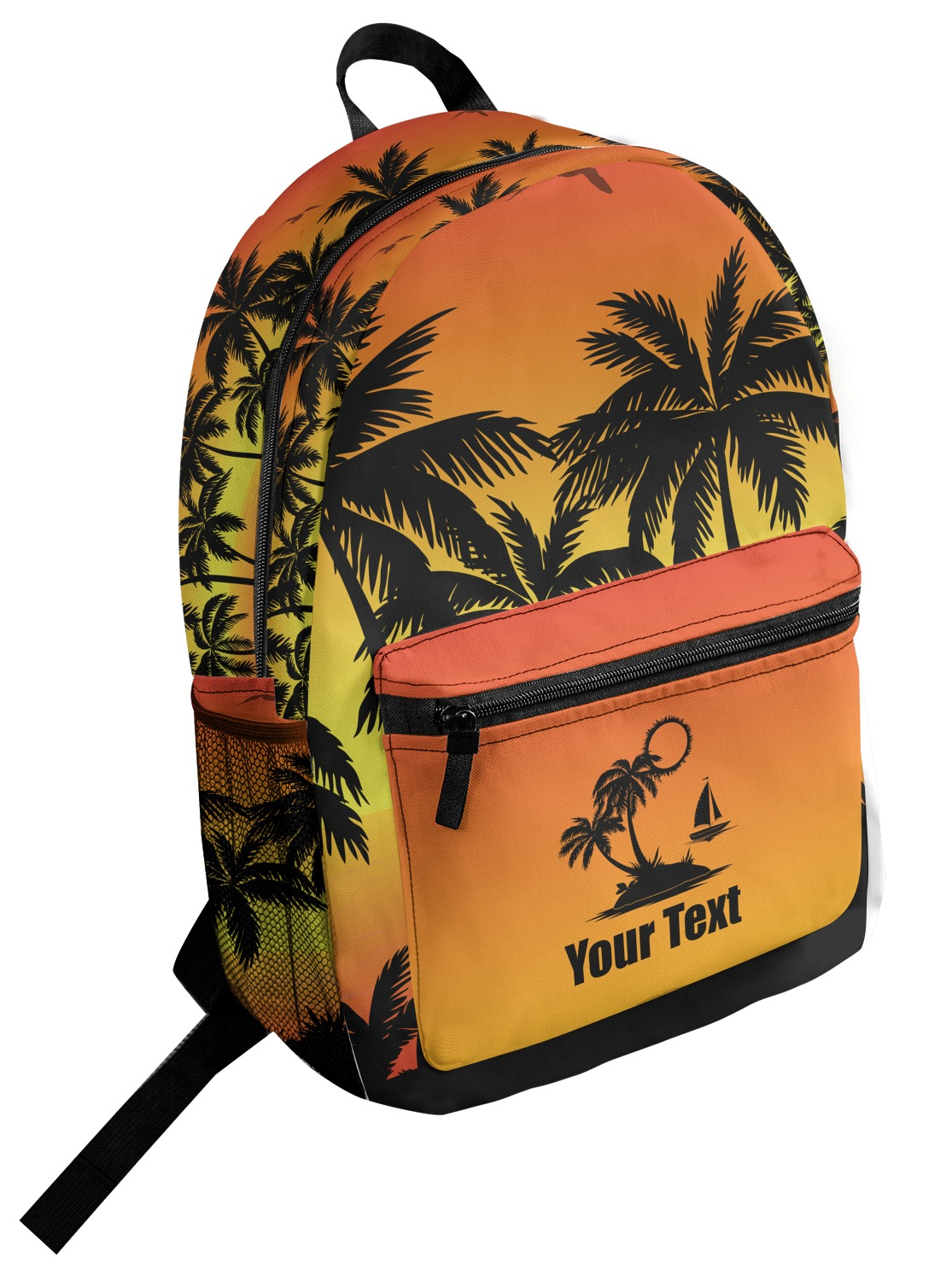 Personalized Tropical Sunset Student Backpack