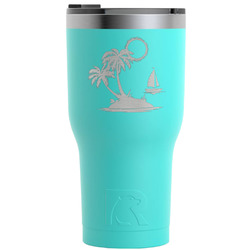 Tropical Sunset RTIC Tumbler - Teal - Engraved Front (Personalized)