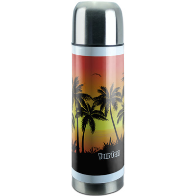 Tropical Sunset Stainless Steel Thermos (Personalized)