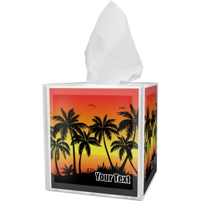 Tropical Sunset Tissue Box Cover (Personalized)