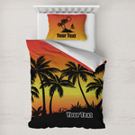 Tropical Sunset Toddler Bedding w/ Name or Text