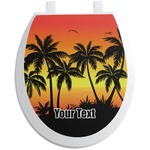 Tropical Sunset Toilet Seat Decal (Personalized)