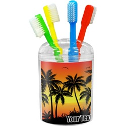 Tropical Sunset Toothbrush Holder (Personalized)