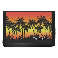 Tropical Sunset Trifold Wallet (Personalized)