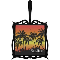 Tropical Sunset Trivet with Handle (Personalized)