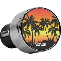 Tropical Sunset USB Car Charger (Personalized)