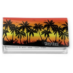 Tropical Sunset Vinyl Checkbook Cover (Personalized)