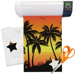 Tropical Sunset Heat Transfer Vinyl Sheet (12