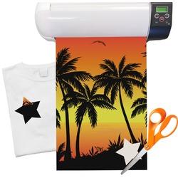 """Tropical Sunset Heat Transfer Vinyl Sheet (12""""x18"""")"""