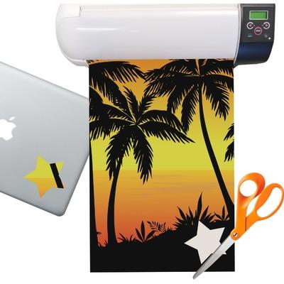Tropical Sunset Sticker Vinyl Sheet (Permanent)