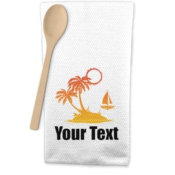 Tropical Sunset Waffle Weave Kitchen Towel (Personalized)