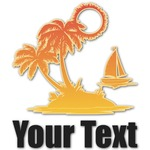 Tropical Sunset Graphic Decal - Custom Sizes (Personalized)