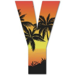 Tropical Sunset Letter Decal - Custom Sizes (Personalized)