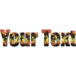Tropical Sunset Name/Text Decal - Custom Sizes (Personalized)