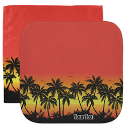 Tropical Sunset Facecloth / Wash Cloth (Personalized)