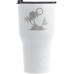 Tropical Sunset RTIC Tumbler - White - Engraved Front (Personalized)