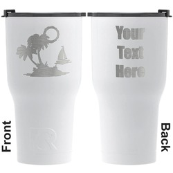 Tropical Sunset RTIC Tumbler - White - Engraved Front & Back (Personalized)