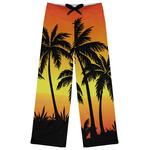 Tropical Sunset Womens Pajama Pants (Personalized)