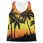 Tropical Sunset Womens Racerback Tank Top (Personalized)