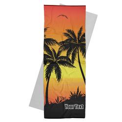 Tropical Sunset Yoga Mat Towel (Personalized)