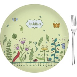 """Nature Inspired 8"""" Glass Appetizer / Dessert Plates - Single or Set (Personalized)"""