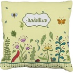 Nature Inspired Faux-Linen Throw Pillow (Personalized)