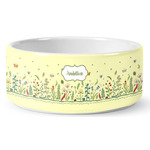 Nature Inspired Ceramic Dog Bowl (Personalized)