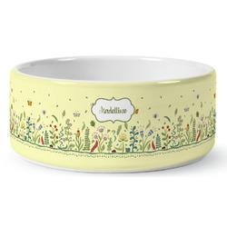 Nature Inspired Ceramic Dog Bowl (Personalized)
