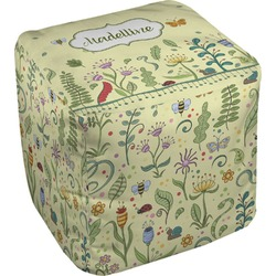 Nature Inspired Cube Pouf Ottoman (Personalized)