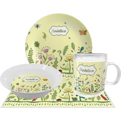 Nature Inspired Dinner Set - Single 4 Pc Setting w/ Name or Text