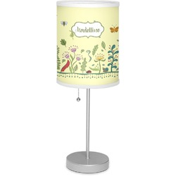 """Nature Inspired 7"""" Drum Lamp with Shade (Personalized)"""