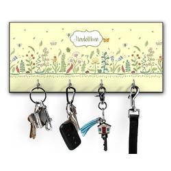 Nature Inspired Key Hanger w/ 4 Hooks (Personalized)