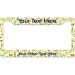 Nature Inspired License Plate Frame - Style B (Personalized)