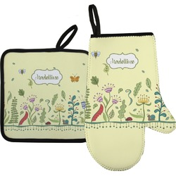 Nature Inspired Oven Mitt & Pot Holder (Personalized)