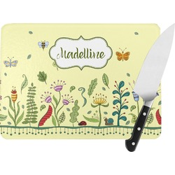 Nature Inspired Rectangular Glass Cutting Board (Personalized)