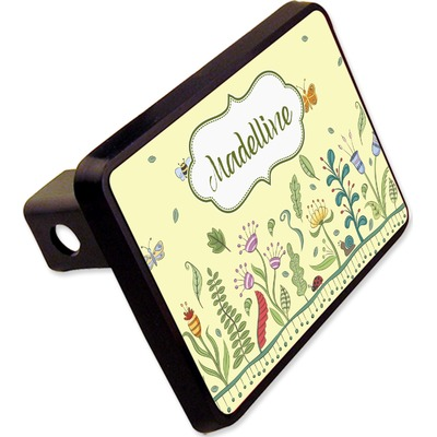 """Nature Inspired Rectangular Trailer Hitch Cover - 2"""" (Personalized)"""