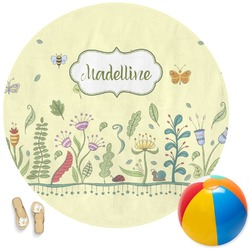 Nature Inspired Round Beach Towel (Personalized)