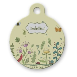 Nature Inspired Round Pet Tag (Personalized)