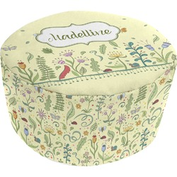 Nature Inspired Round Pouf Ottoman (Personalized)