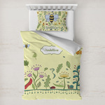 Nature Inspired Toddler Bedding w/ Name or Text