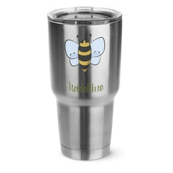 Nature Inspired 30 oz Silver Stainless Steel Tumbler w/Full Color Graphics (Personalized)