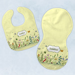 Nature Inspired Baby Bib & Burp Set w/ Name or Text