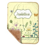 """Nature Inspired Sherpa Baby Blanket 30"""" x 40"""" (Personalized)"""