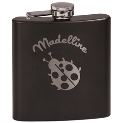 Nature Inspired Black Flask (Personalized)