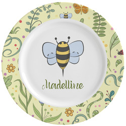 Nature Inspired Ceramic Dinner Plates (Set of 4) (Personalized)